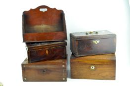 Three Victorian jewellery boxes and covers,