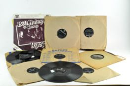 A collection of 1950's Rock & Roll 78 LP's of Bill Haley and The Comets and Littler Richard
