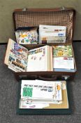 A suitcase full of 20th century worldwide stamps and stamp albums