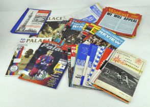 A quantity of vintage football programmes and reviews, including examples from the 1960's,