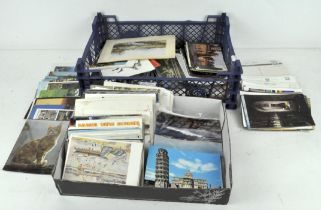 A collection of postcards, mainly post WWII, British,