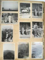 A vintage photograph album containing photos of travels through India, circa 1956,