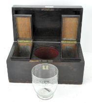 A Georgian rosewood tea caddy of rectangular form,
