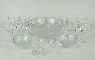 Assorted glassware, to include wine glasses,