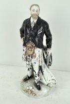 A large glazed ceramic figure depicting Prince Albert, marked to base,