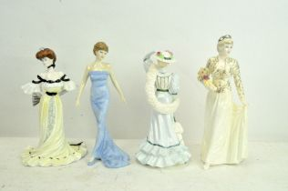 A group of four Coalport and Doulton figures,