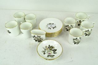 A Royal Worcester eight piece coffee set, comprising coffee cans, saucers,