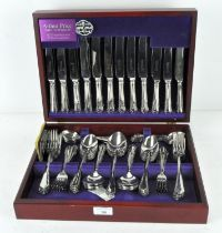 A vintage Arthur Price stainless steel canteen of cutlery