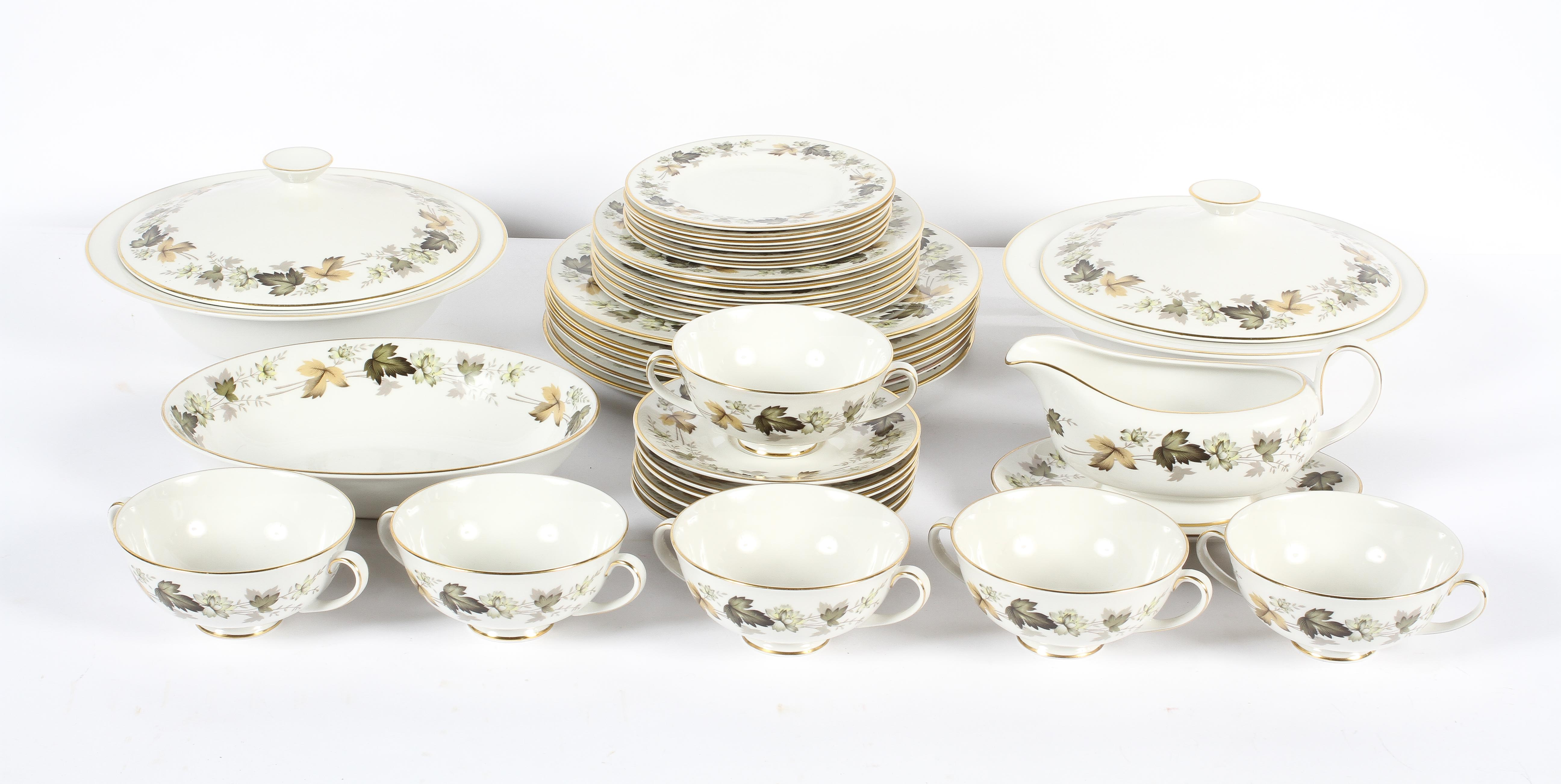 A Royal Doulton 'Larchmont' pattern part dinner service, 20th century, printed grey marks, - Image 2 of 3