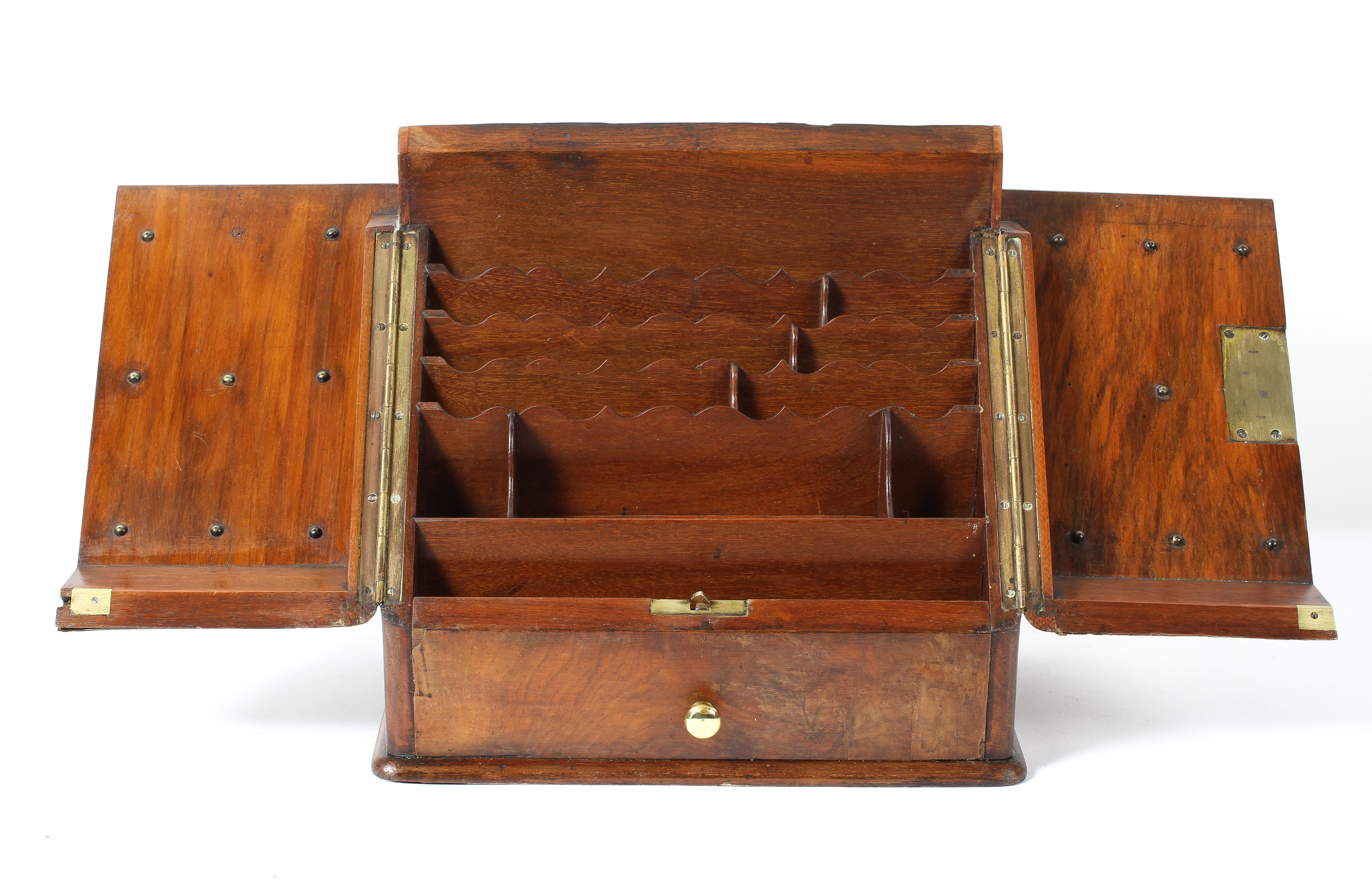 An Edwardian walnut stationery cabinet, - Image 2 of 2
