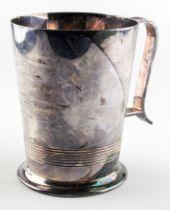 A mid century silver tankard, awarded in 1946