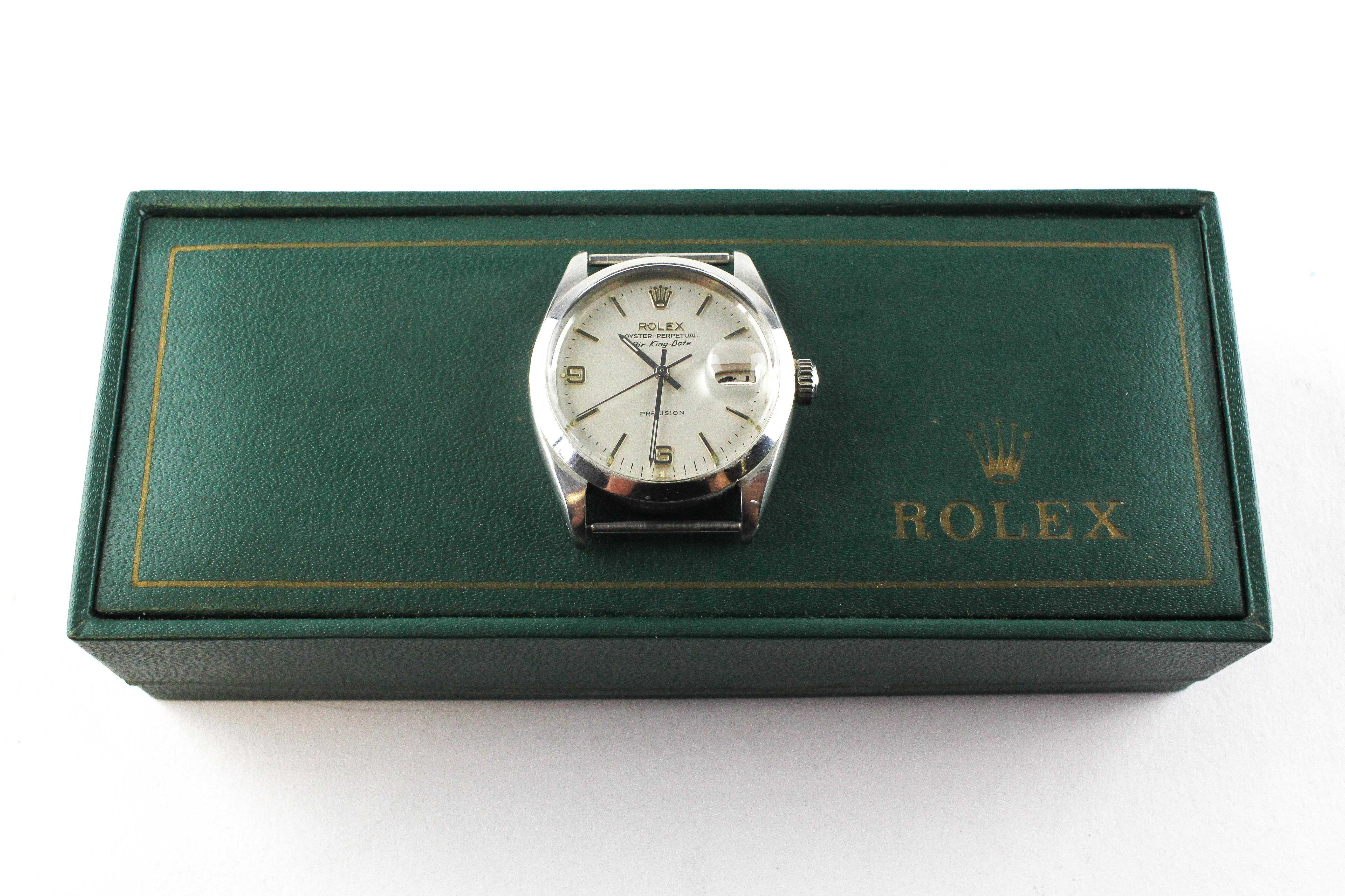 A stainless steel rolex oyster perpetual air king date wristwatch. - Image 3 of 11
