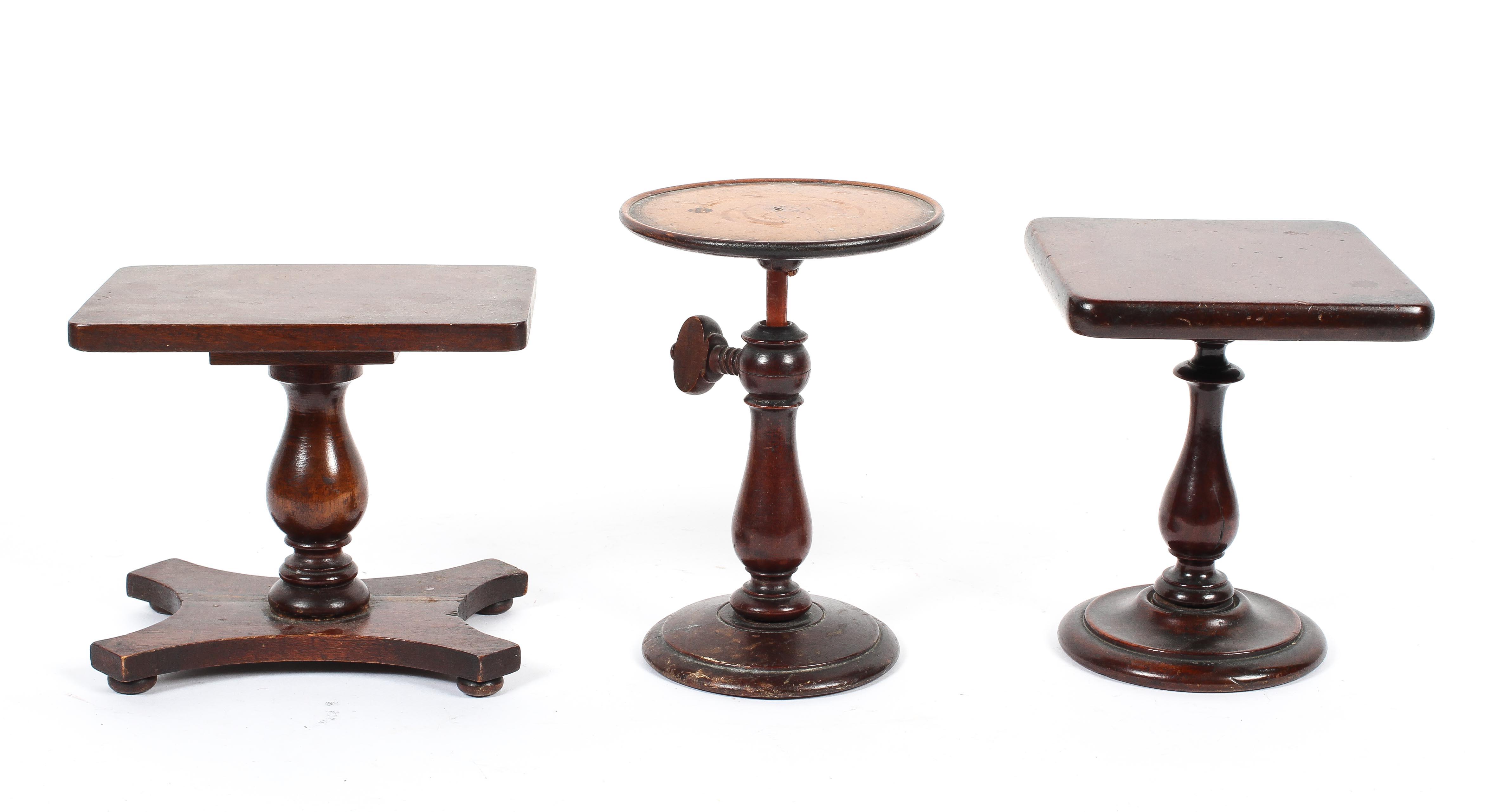 Three mahogany miniature or apprentice pieces,
