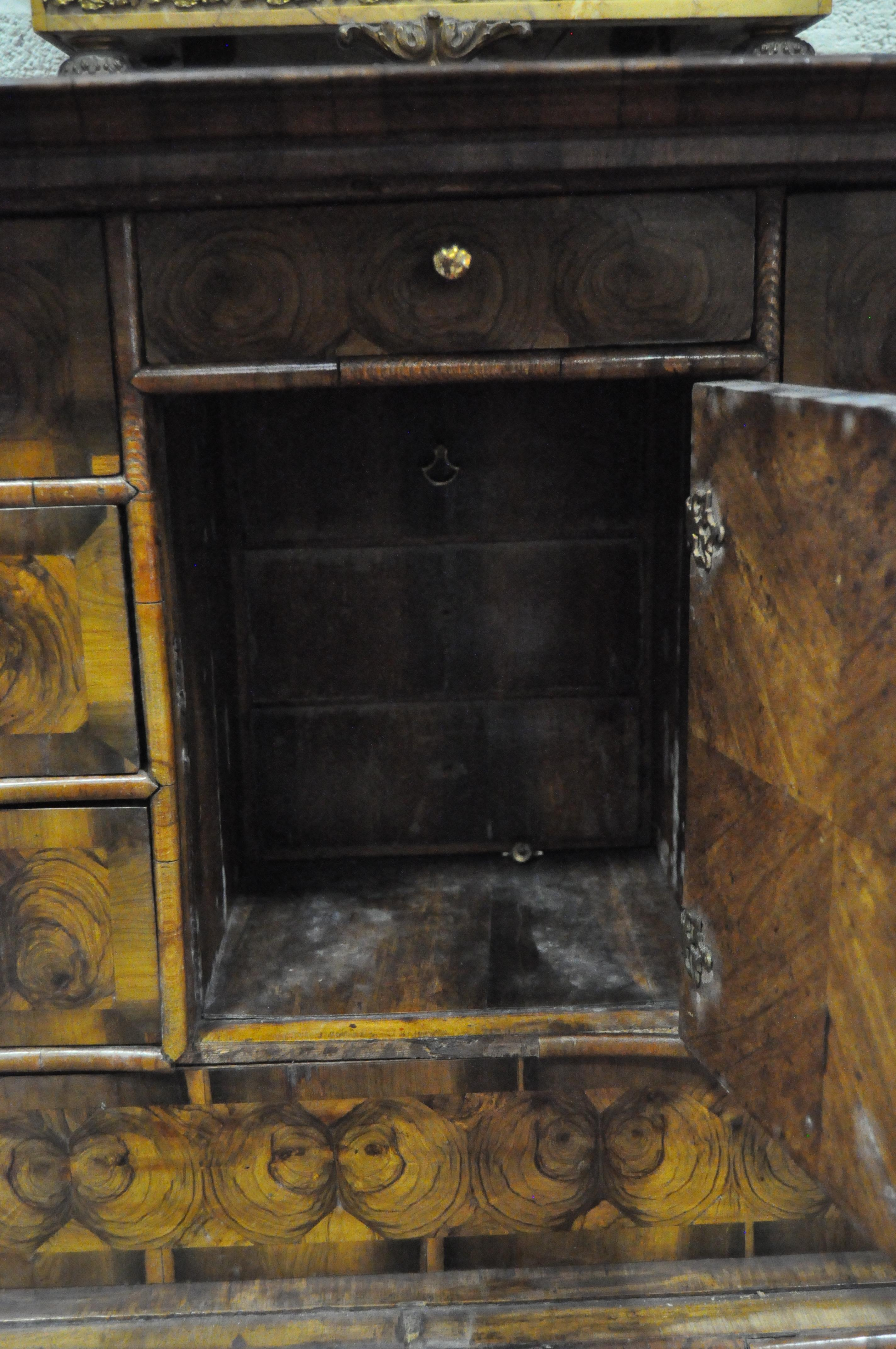 An oyster veneered cabinet on stand, 17th century style but later in date, - Image 16 of 18