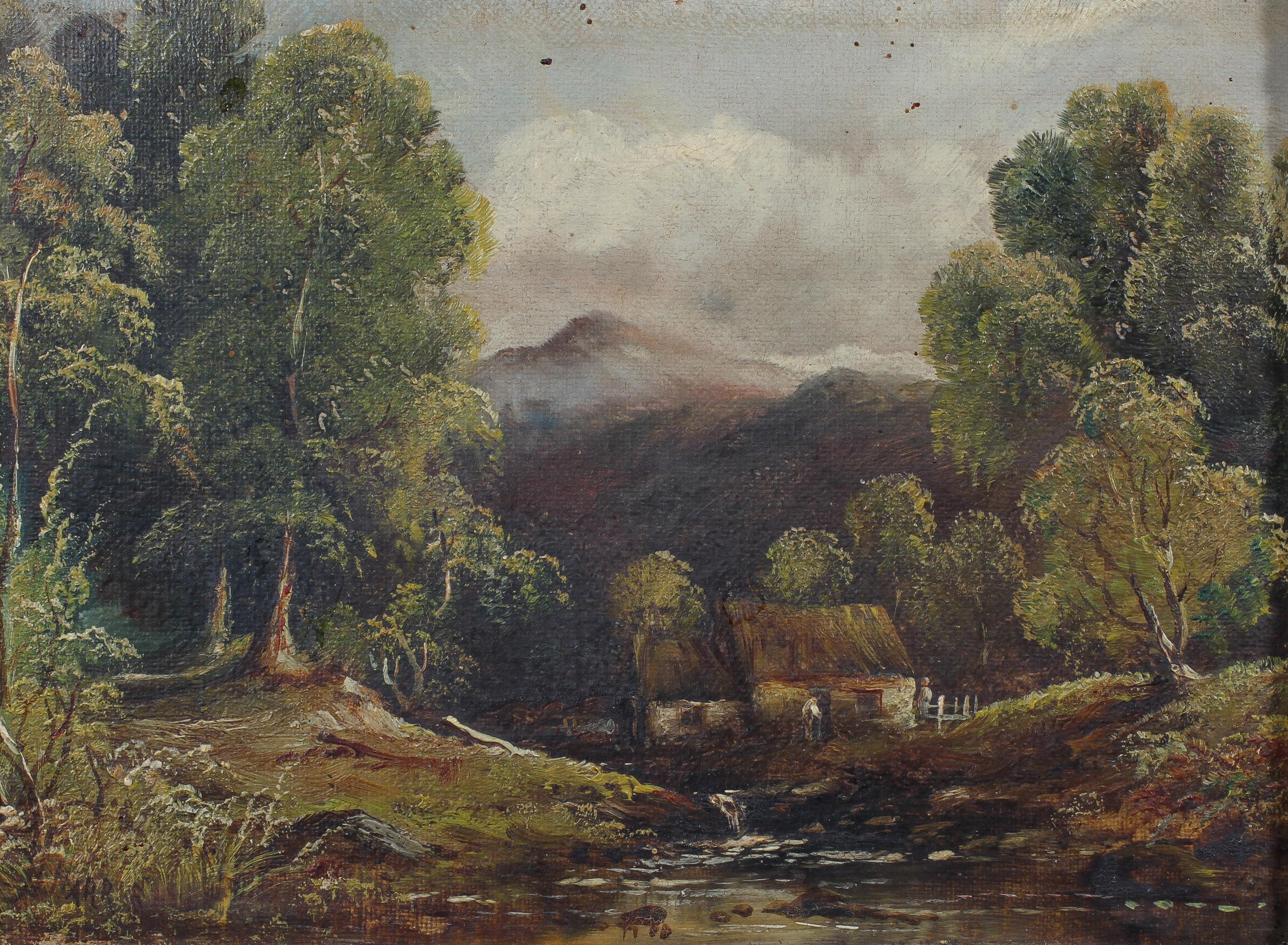 H Harris, three rural landscapes, oil on canvas, within giltwood frames, each signed, - Image 3 of 4