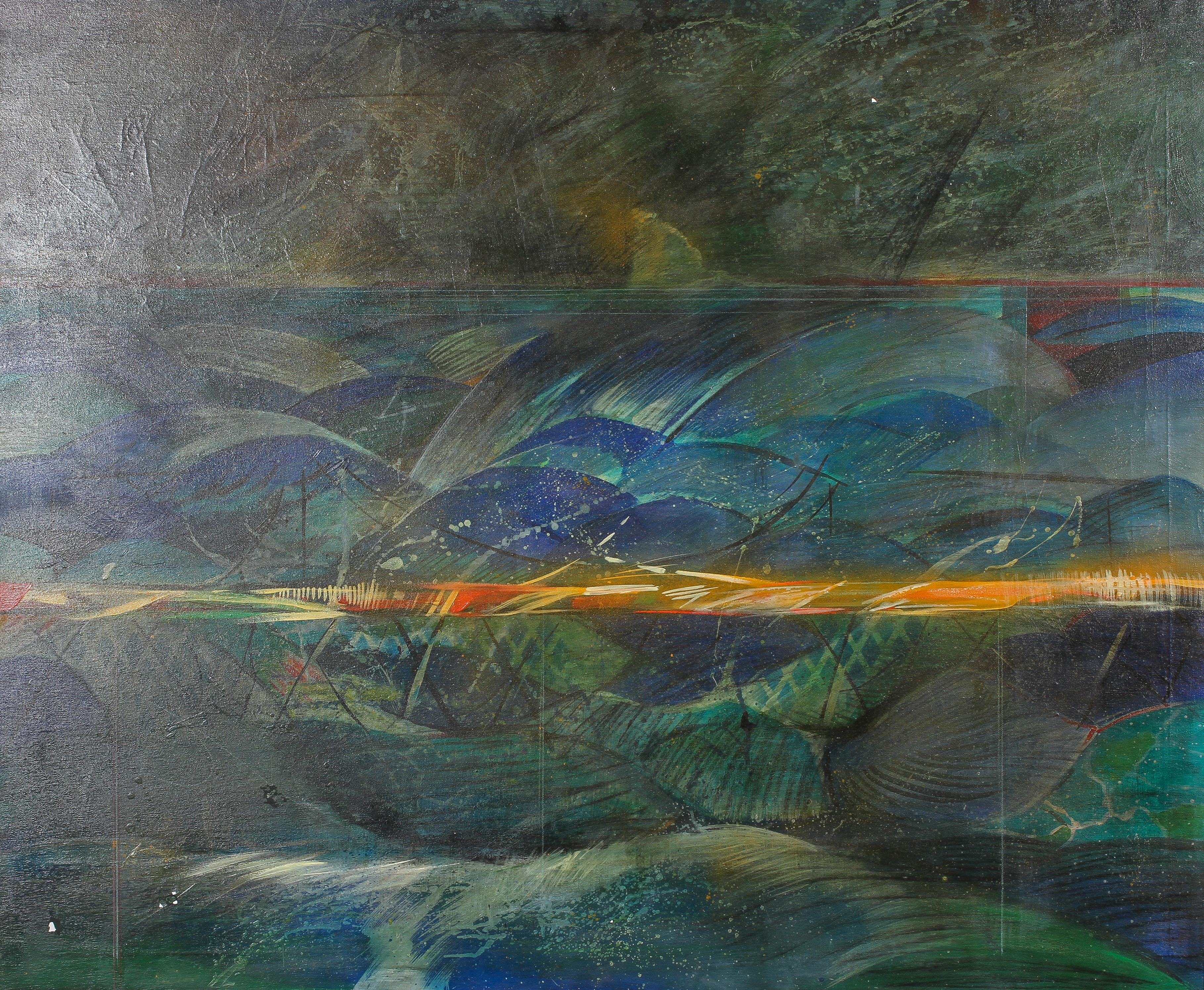 Carmine Errichiello, Grieve in Chianti, an abstract landscape, oil on canvas,
