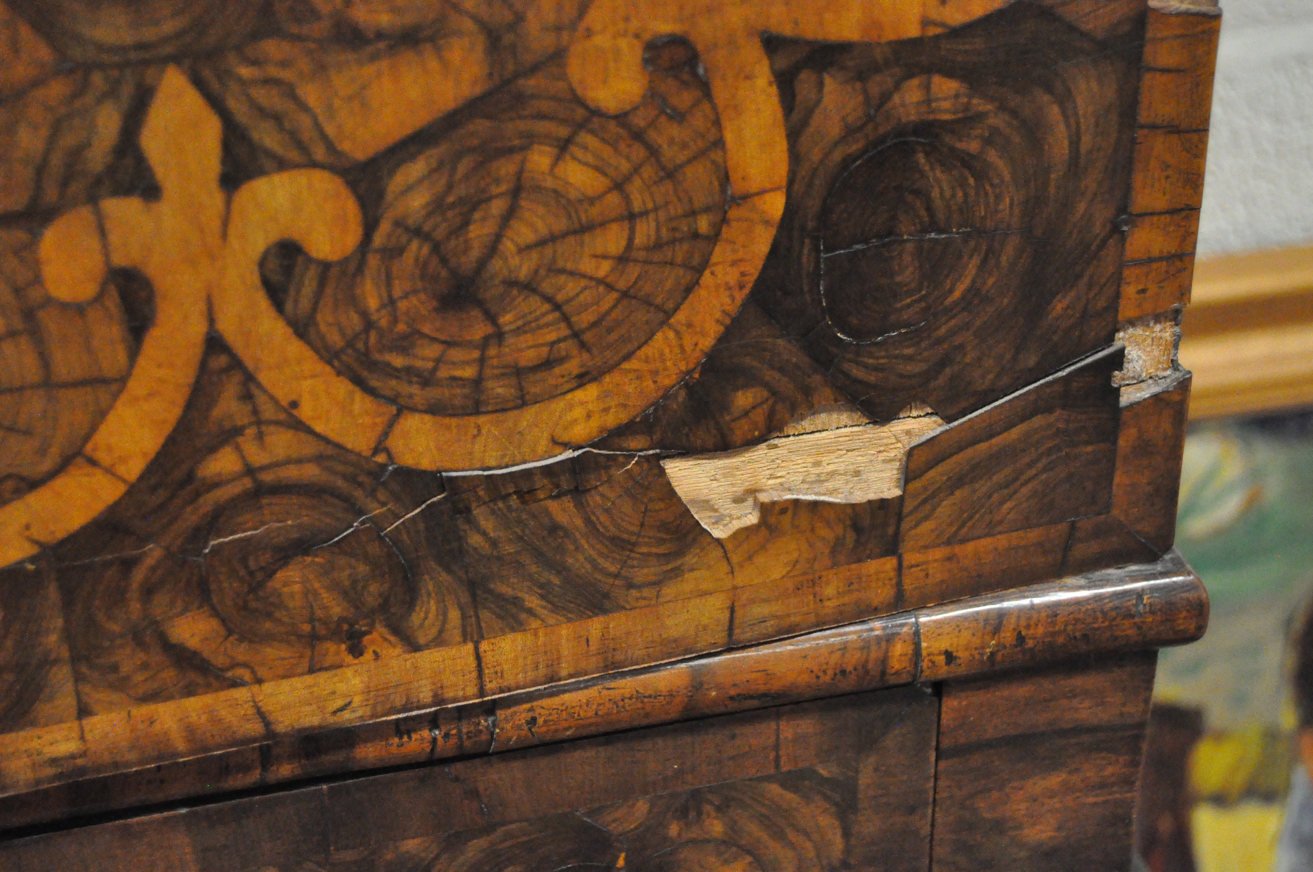 An oyster veneered cabinet on stand, 17th century style but later in date, - Image 3 of 18