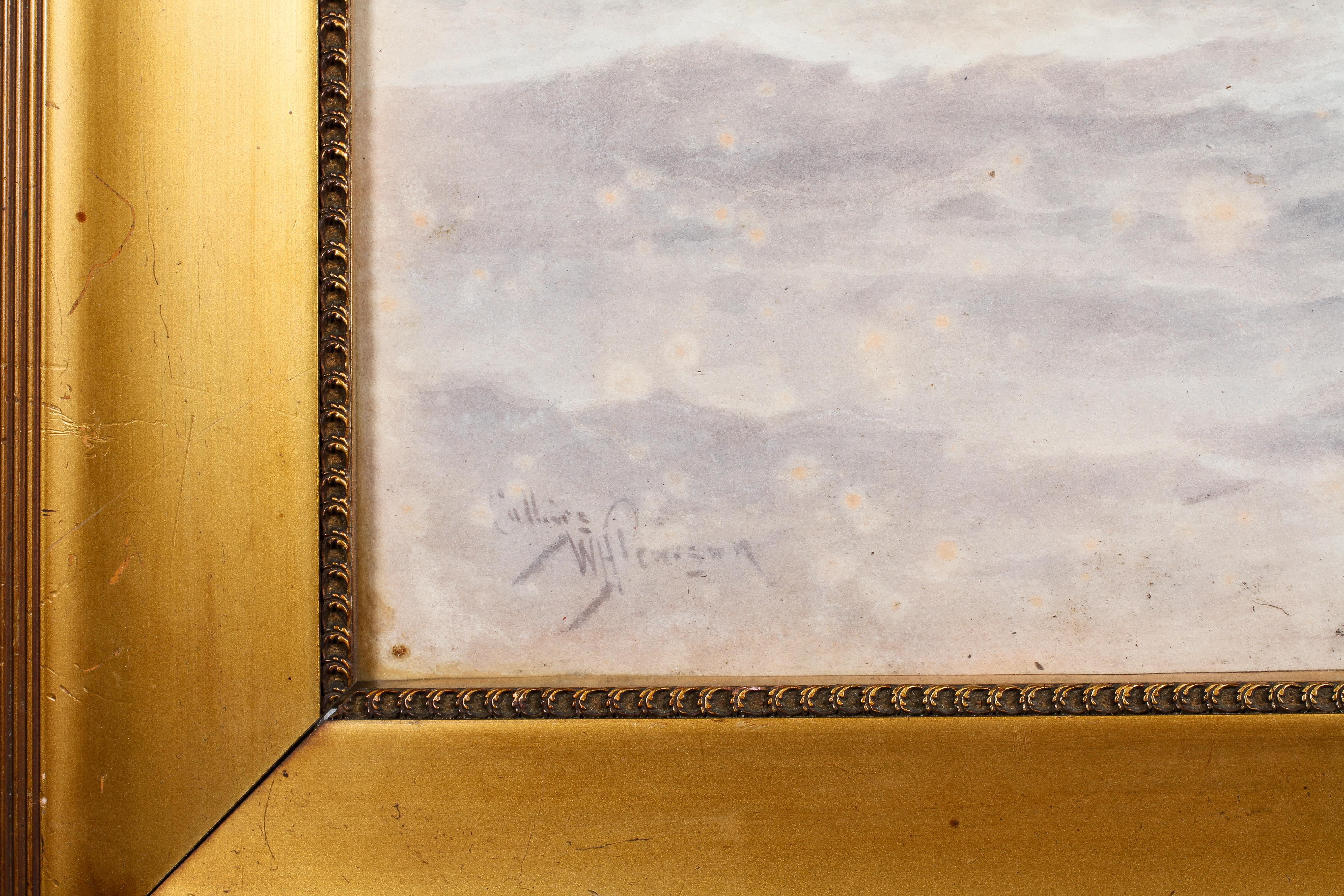 William Henry Pearson, watercolour of a Steamer, signed lower left, glazed and framed, - Image 3 of 4