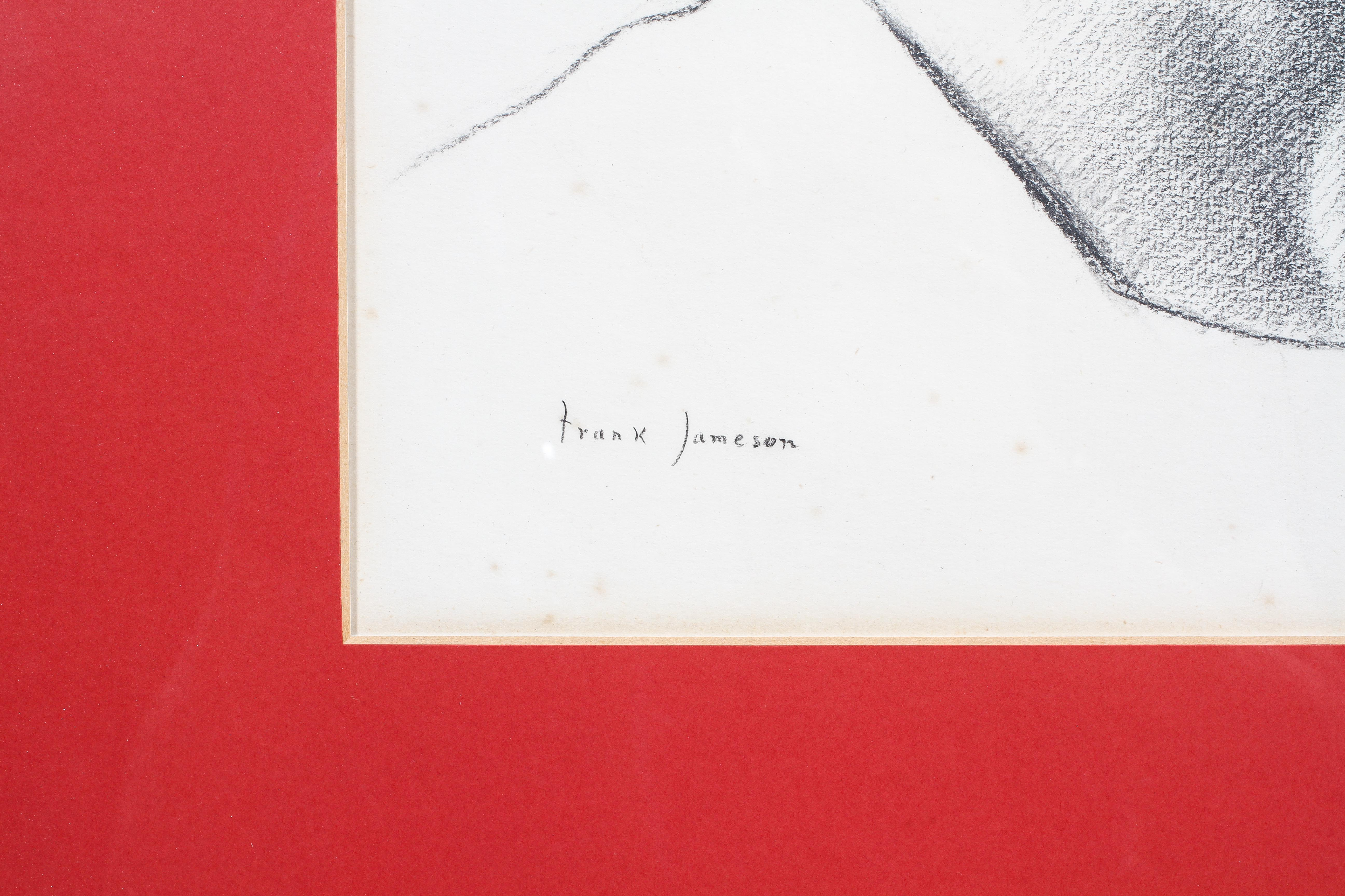 Frank Jameson, pencil portrait of his daughter, signed lower right, glazed and framed, - Image 3 of 4