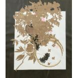 A Bell Cowie limited edition print, a still life of flowers, numbered 2/14, signed lower right,