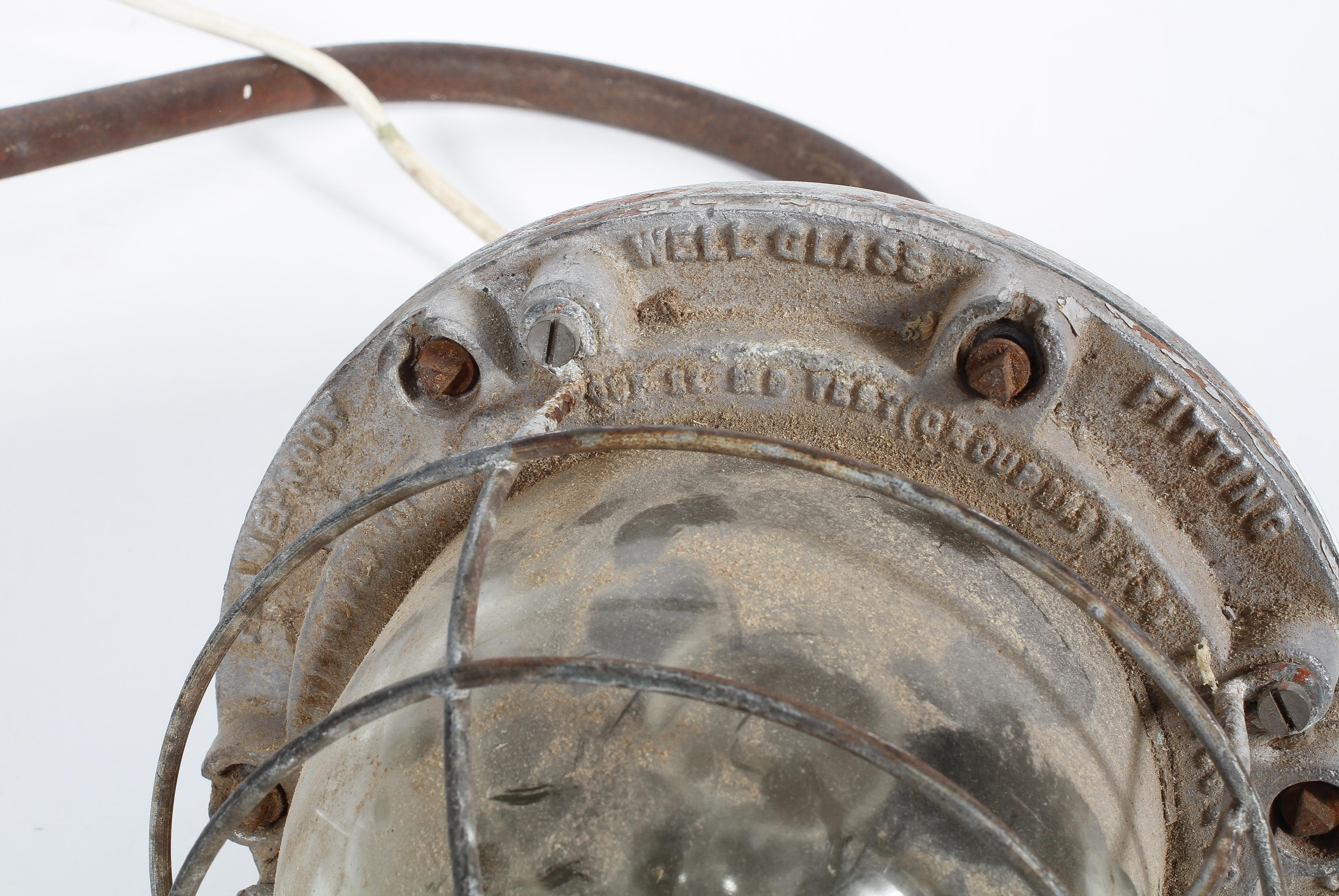 A Hayes & Co 'The Wigan' lamp, with cage surround to the large bulb, - Image 2 of 2