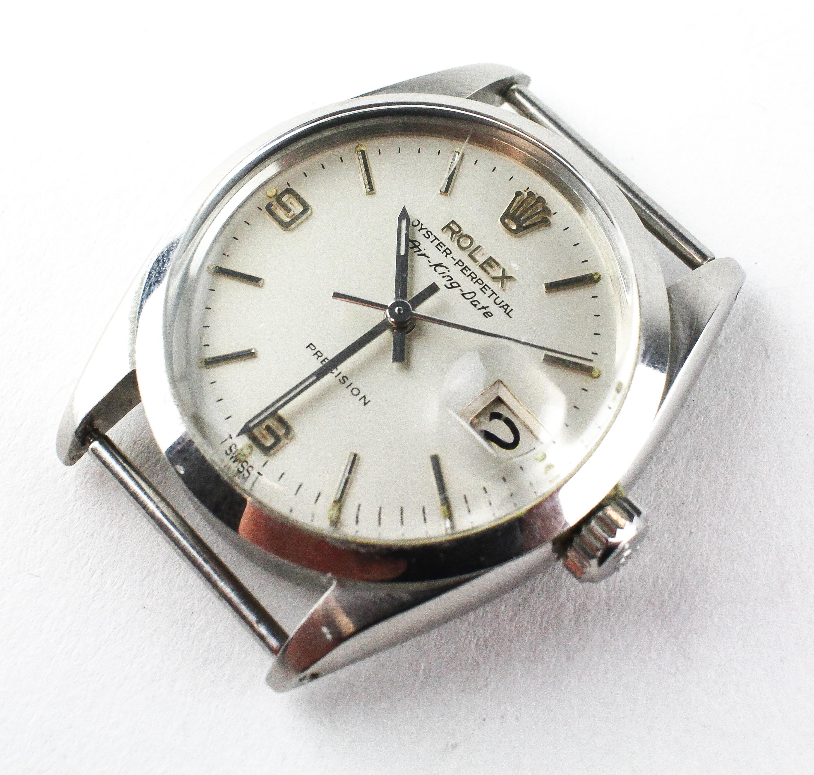 A stainless steel rolex oyster perpetual air king date wristwatch. - Image 2 of 11