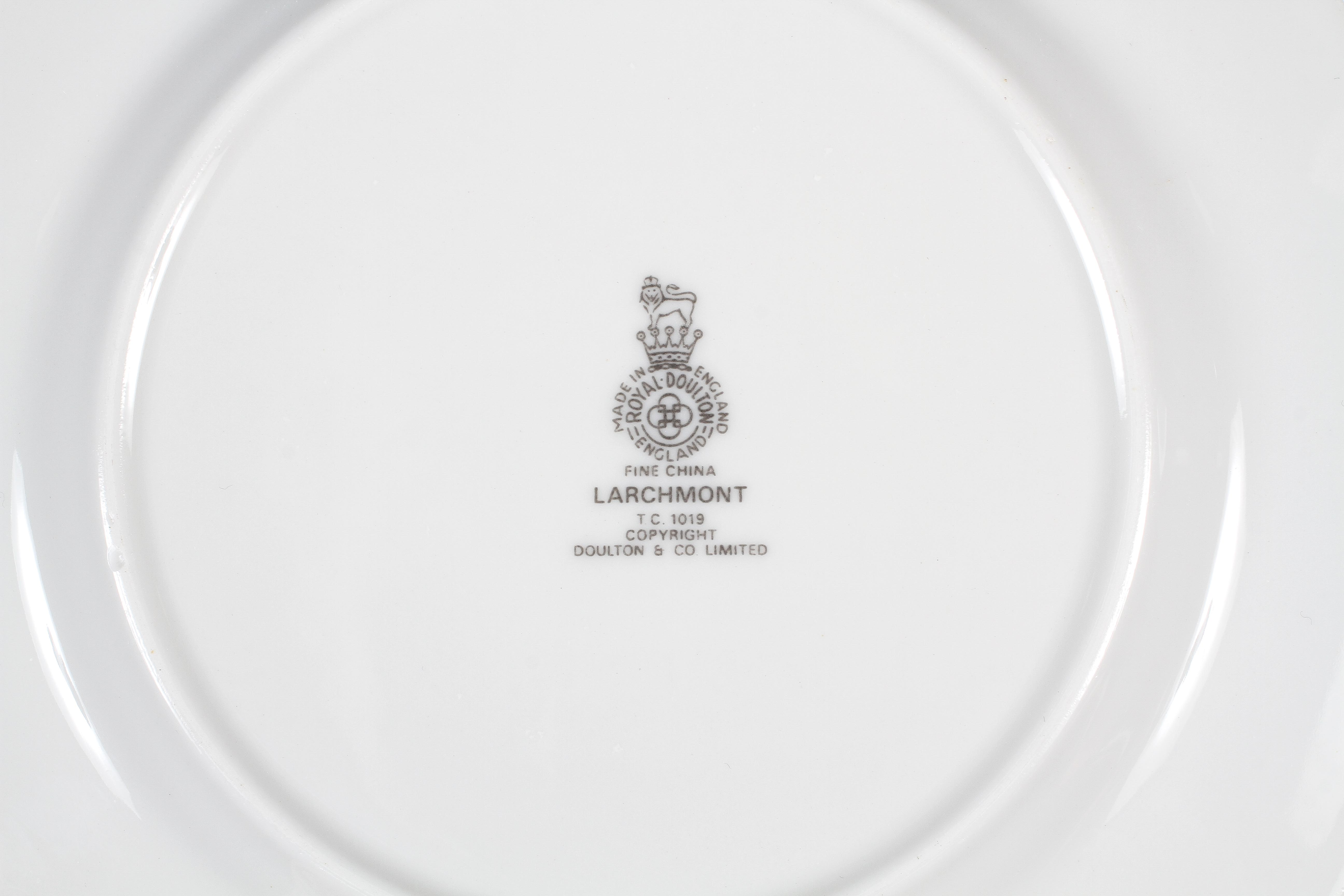 A Royal Doulton 'Larchmont' pattern part dinner service, 20th century, printed grey marks, - Image 3 of 3