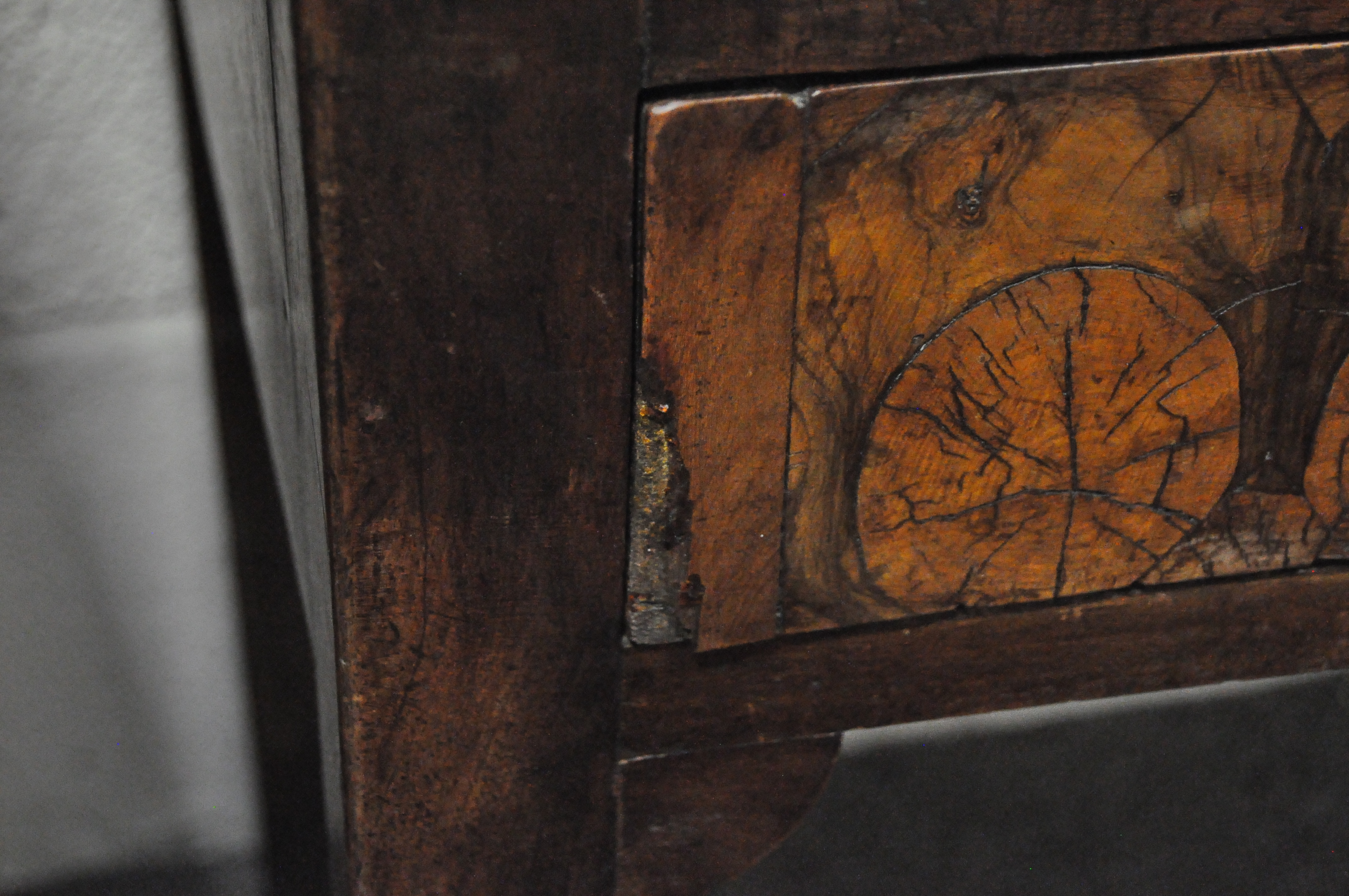 An oyster veneered cabinet on stand, 17th century style but later in date, - Image 4 of 18