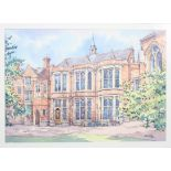 Gus Mills, 'The Union building, Oxford', watercolour, signed and dated 2012 lower right,