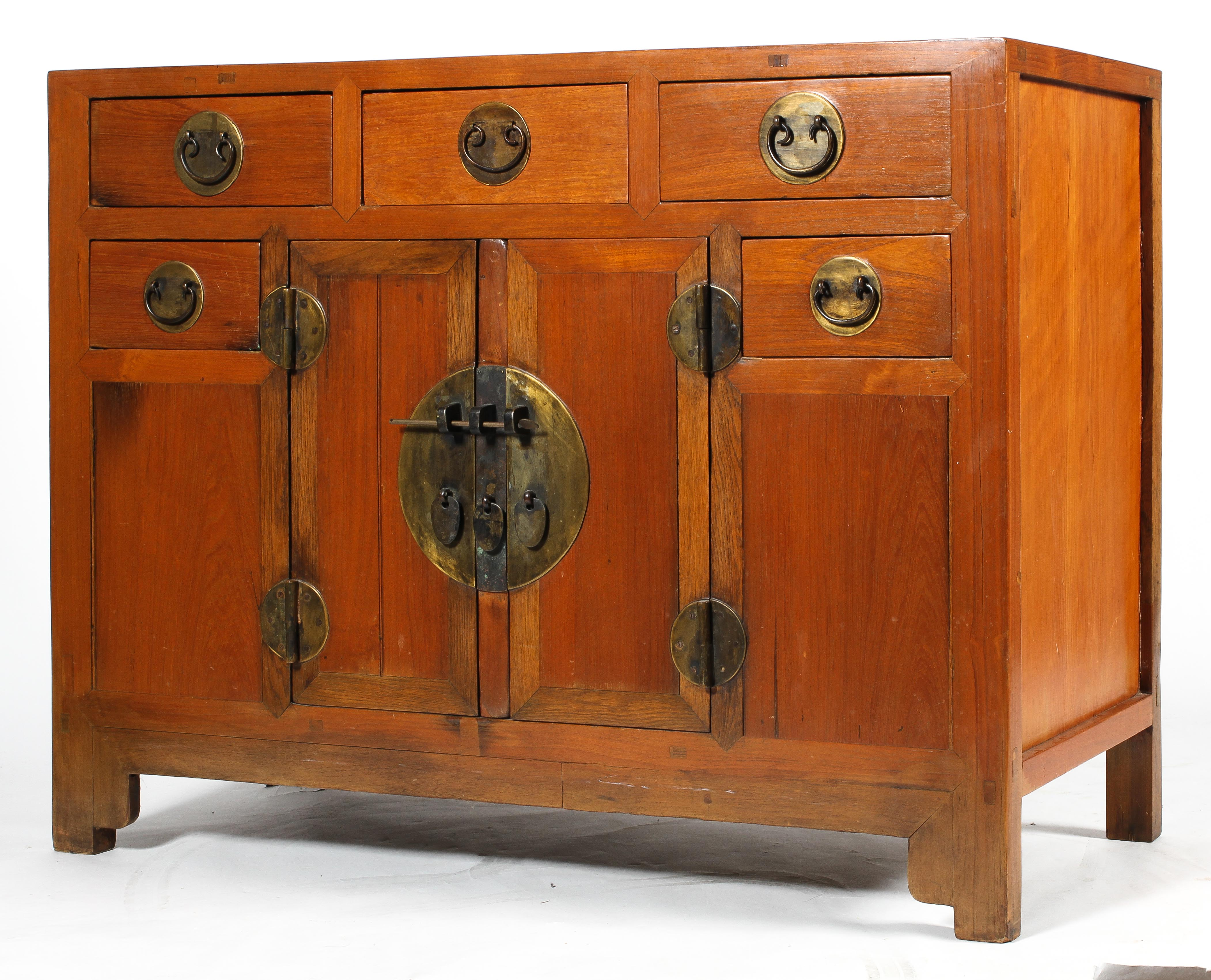 A Chinese elm cabinet,