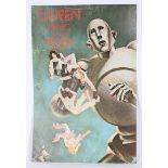 An unusual Queen poster for album 'News of the World At 33 1/3 rpm,