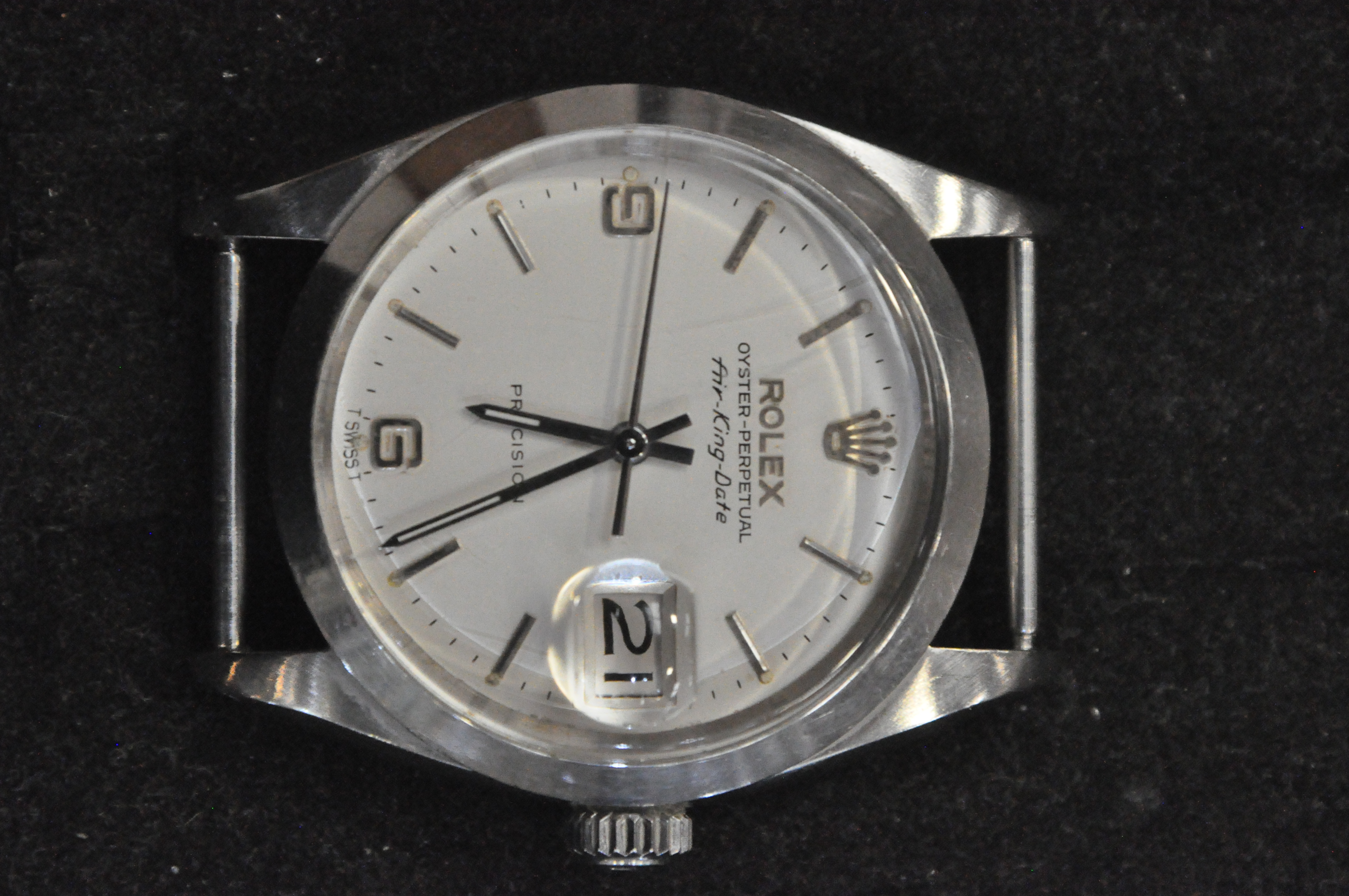 A stainless steel rolex oyster perpetual air king date wristwatch. - Image 8 of 11