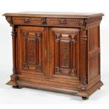A Victorian oak sideboard,