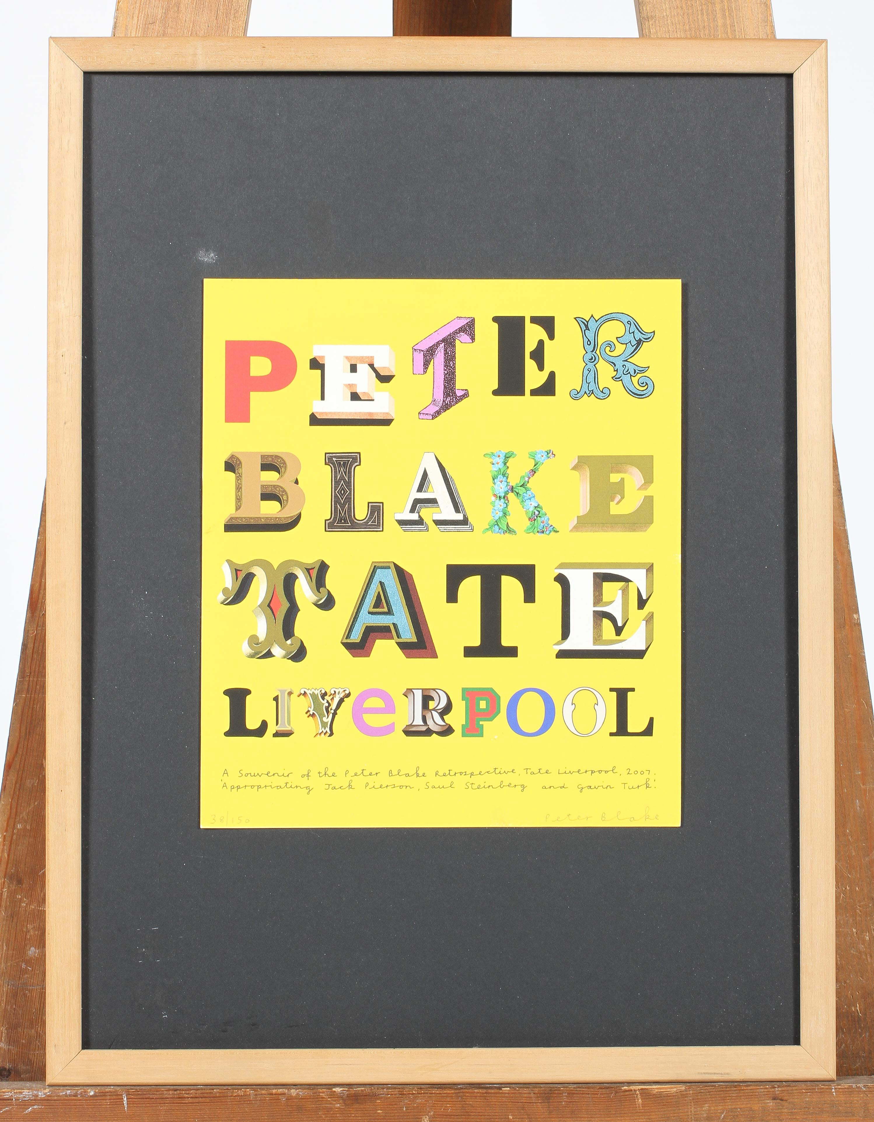 A Peter Blake Tate Liverpool,Retrospective limited edition print, signed in pencil by Blake, - Image 2 of 2