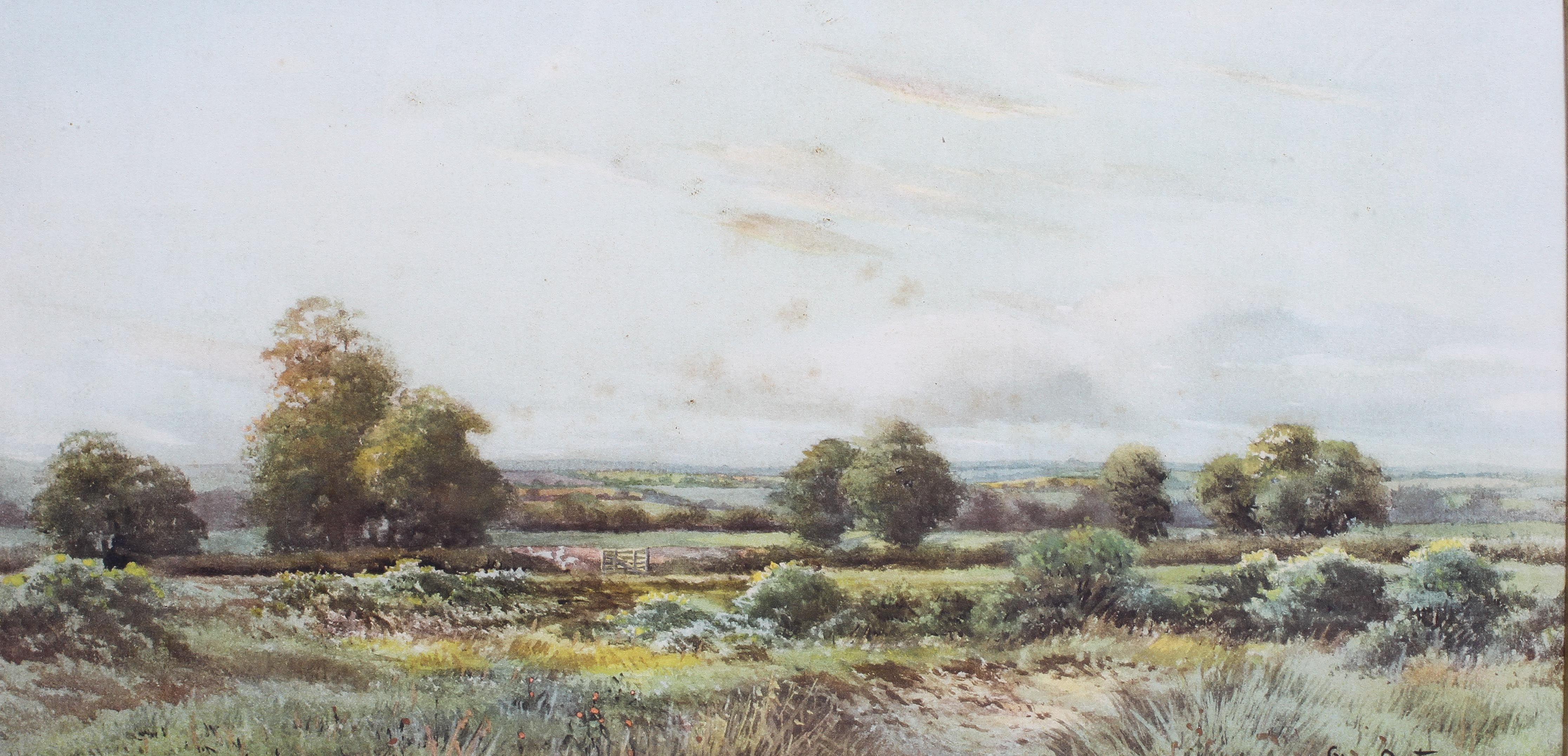 George Oyston (1861-1937), A pair of pastoral landscapes, signed lower right, - Image 3 of 3