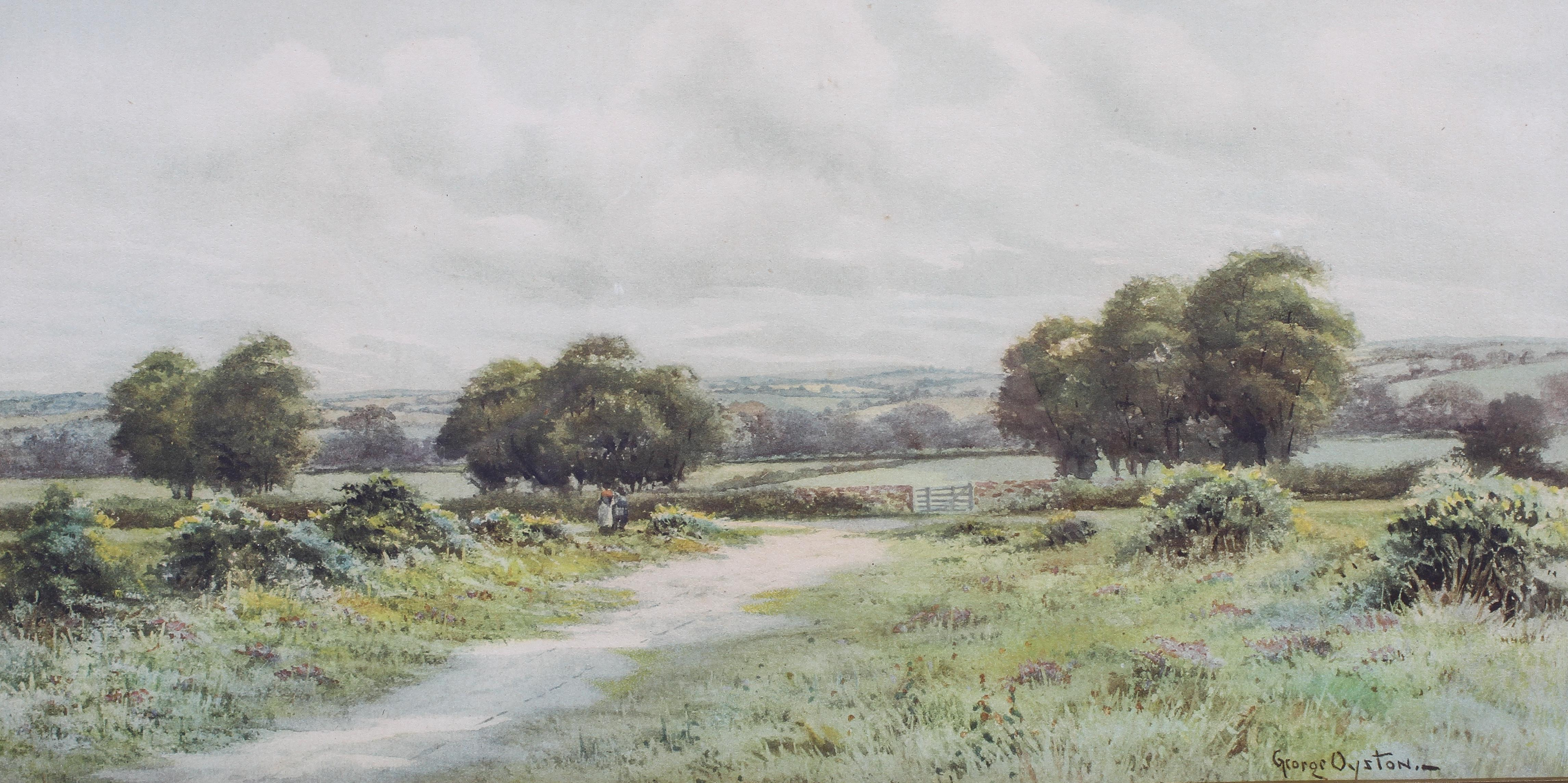 George Oyston (1861-1937), A pair of pastoral landscapes, signed lower right, - Image 2 of 3