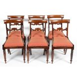 A set of six Victorian mahogany dining chairs,