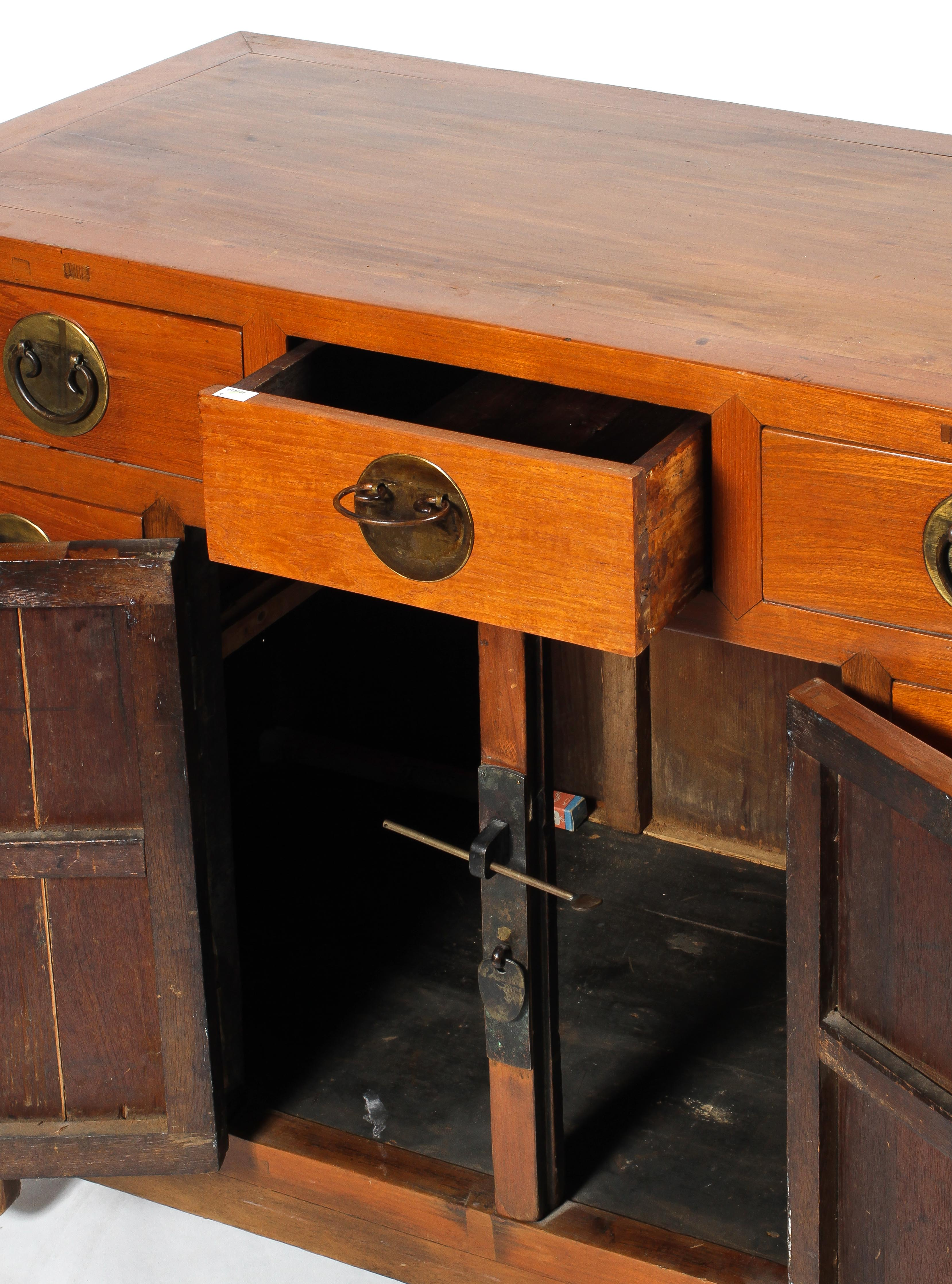 A Chinese elm cabinet, - Image 2 of 2