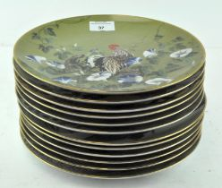 A collection of twelve Japanese collectors plates,