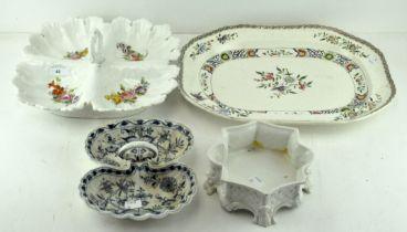 A 19th century ceramic platter, Staffordshire transfer printed decoration,