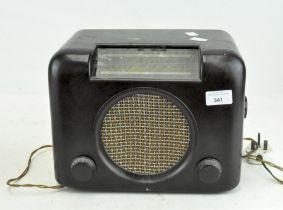 A Bush Type DAC 90 Bakelite cased radio, cracked,
