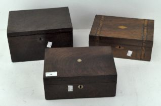 Three 20th Century wooden boxes,