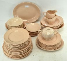 A 'Peach Petal' dinner service by Grindley, comprising plates, bowls and more