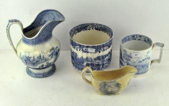 Four pieces of Spode ceramics, comprising two jugs,
