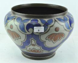 A Dutch Gouda vase, numbered 430,