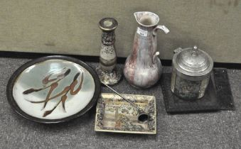 A selection of assorted ceramics, to include a Japanese satsuma ash tray of rectangular form,
