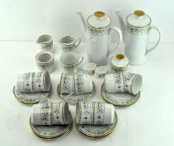 A German coffee service by Seltmann Weiden, with floral printed patterns