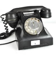 A vintage telephone,