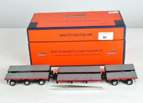 A Drake 1:50 scale Brake 7x8 steerable low loader accessories kit, Z209074A,