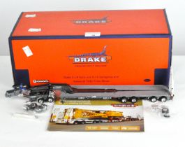 A Drake 1:50 scale 2x2 dolly, 4x8 Swingwing with Kenworth T909 prime mover, ZT09027,